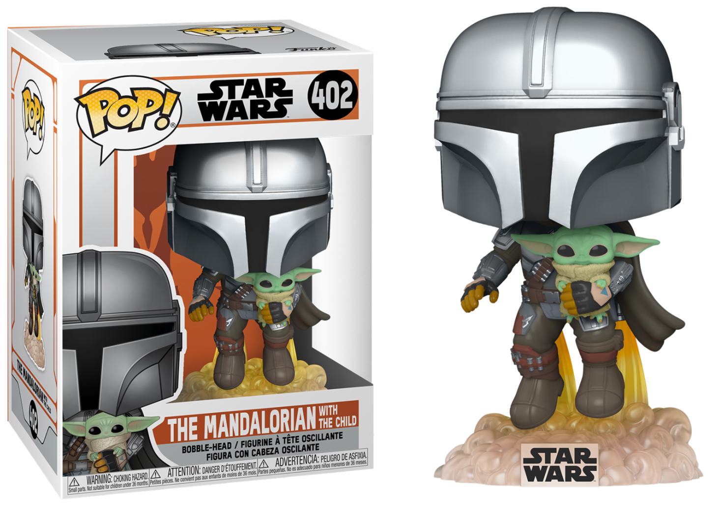 The Mandalorian - Bobble Head Funko Pop N°402 : The Mandalorian with The Child