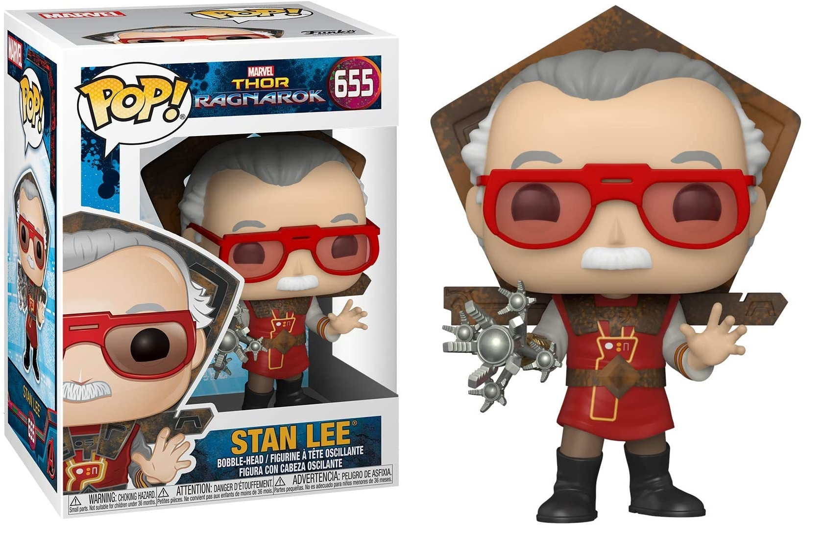 Marvel - Bobble Head Funko Pop N°655 : Stan Lee in Ragnarock outfit