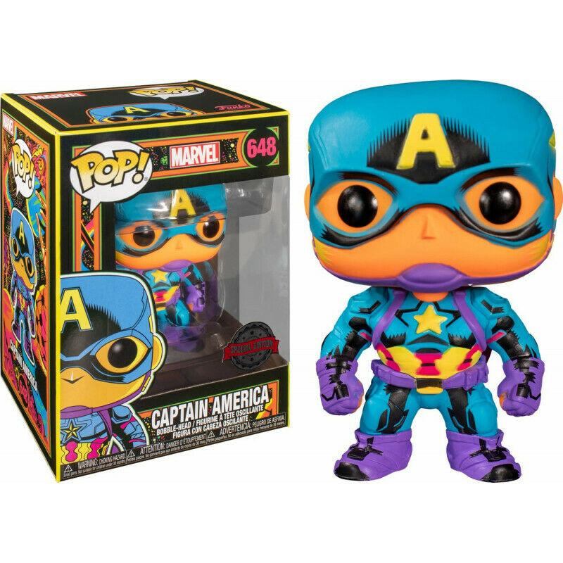 Marvel - Bobble Head Funko Pop N°648 : Captain America Special Edition