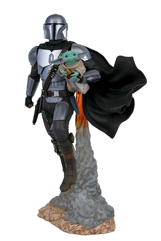 Star Wars - The Mandalorian : Statue Mandalorian & The Child