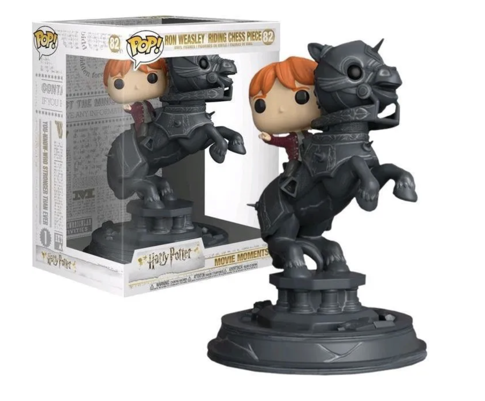 Harry Potter - Bobble Head Funko Pop N°82 : Ron Riding Chess Piece