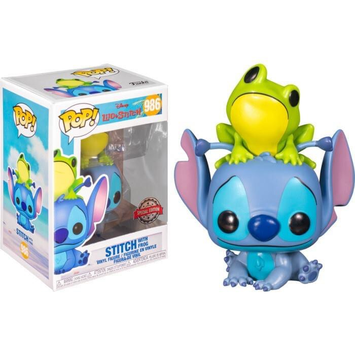 Disney - Bobble Head Funko Pop N° 986 : Stitch with frog