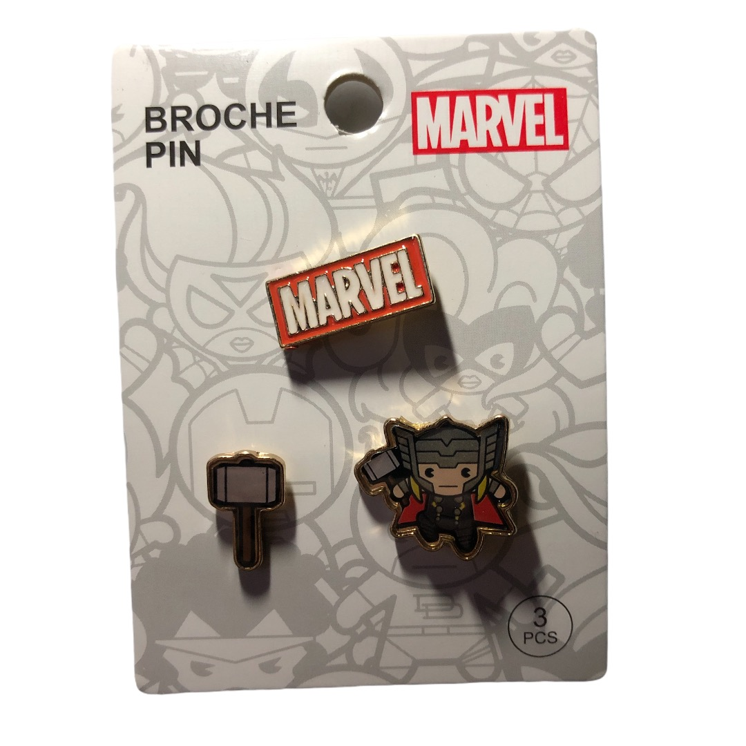 Marvel - Avengers : Lot de 3 pin\'s Thor