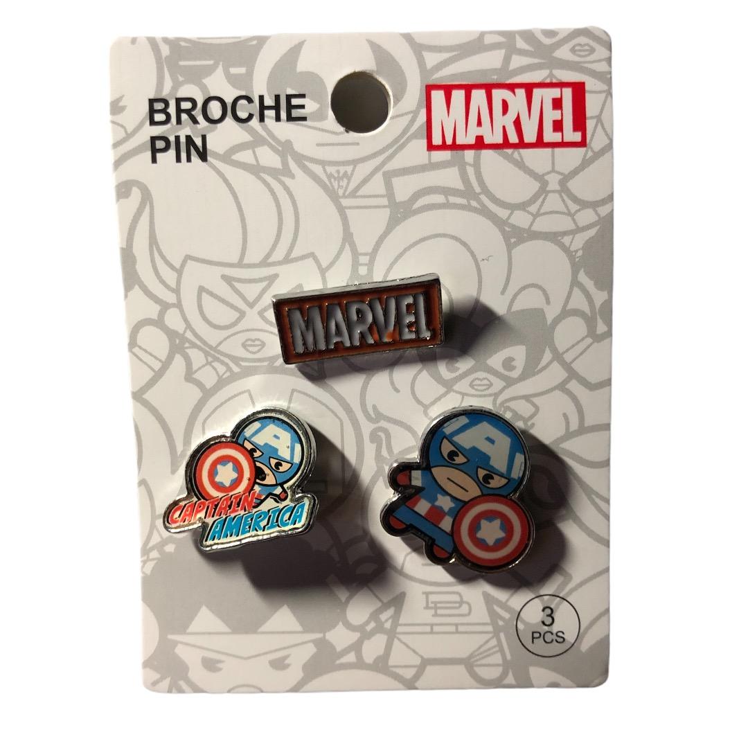 Marvel - Avengers : Lot de 3 pin\'s Captain America