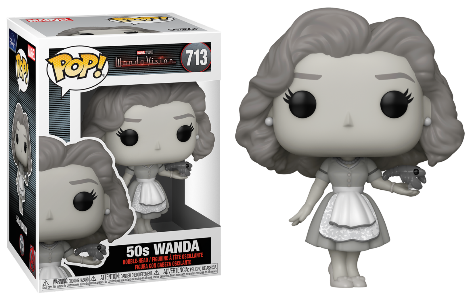 WandaVision - Bobble Head Funko POP N°713 : Wanda 50s
