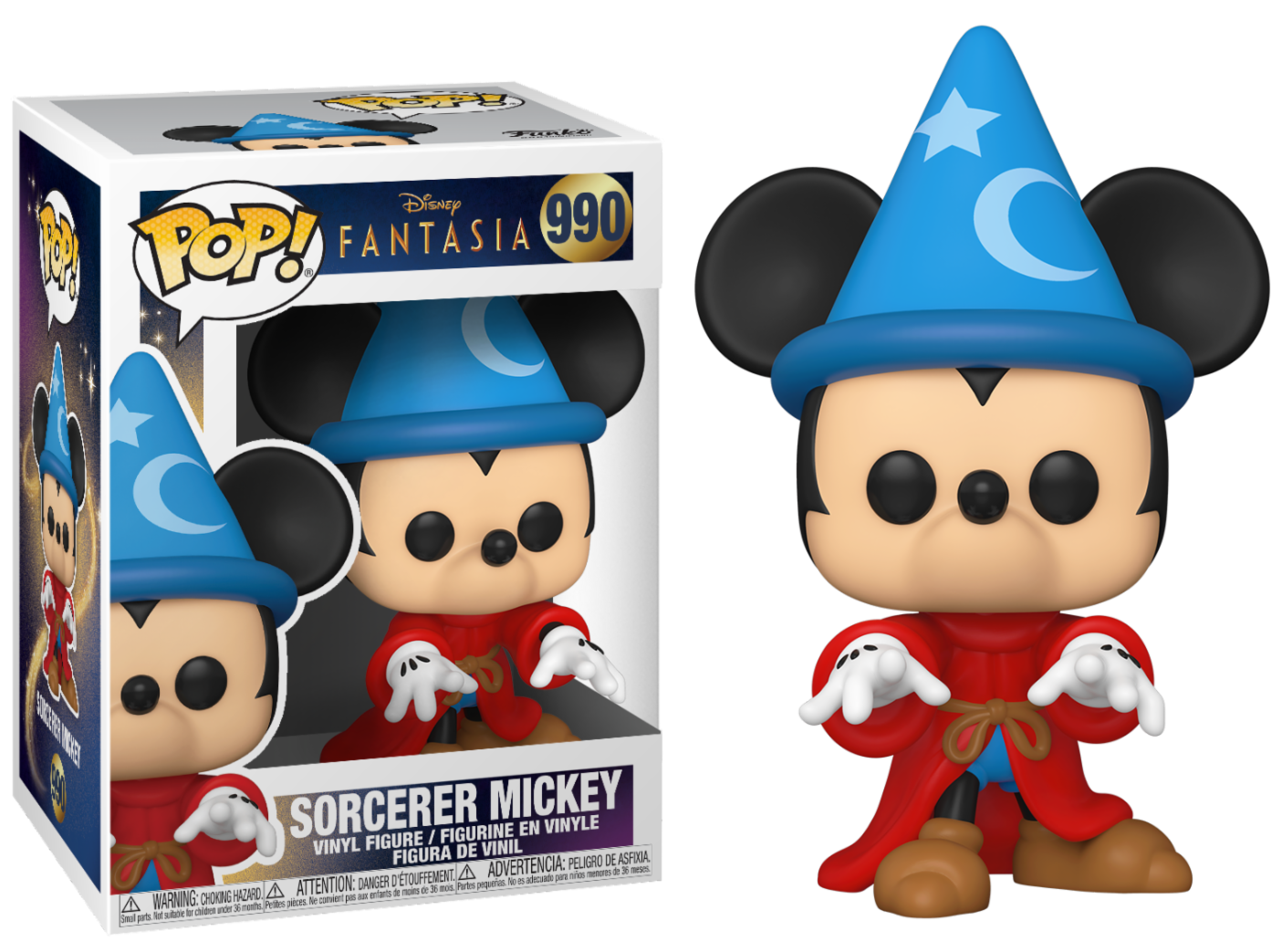 Disney - Bobble Head Funko Pop N°990 : Sorcerer Mickey Fantasia