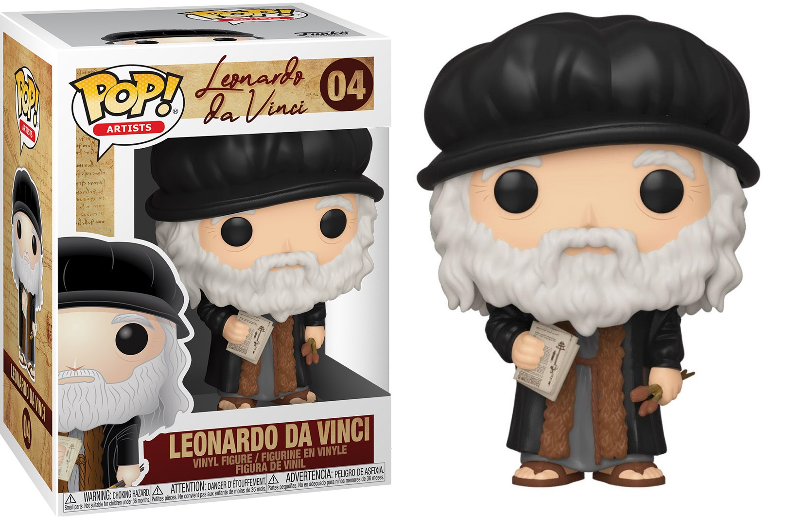 Artists - Bobble Head Funko Pop N°04 : Leonardo Da Vinci