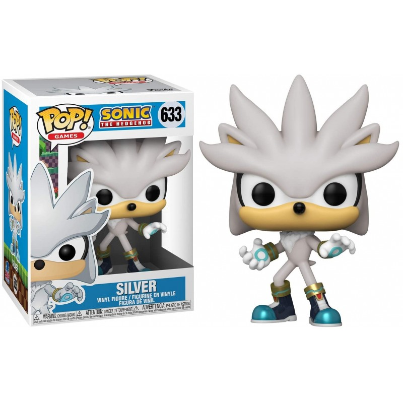 Sonic the Hedgehog - Bobble Head Funko Pop N°633 : Silver 30th Anniversary