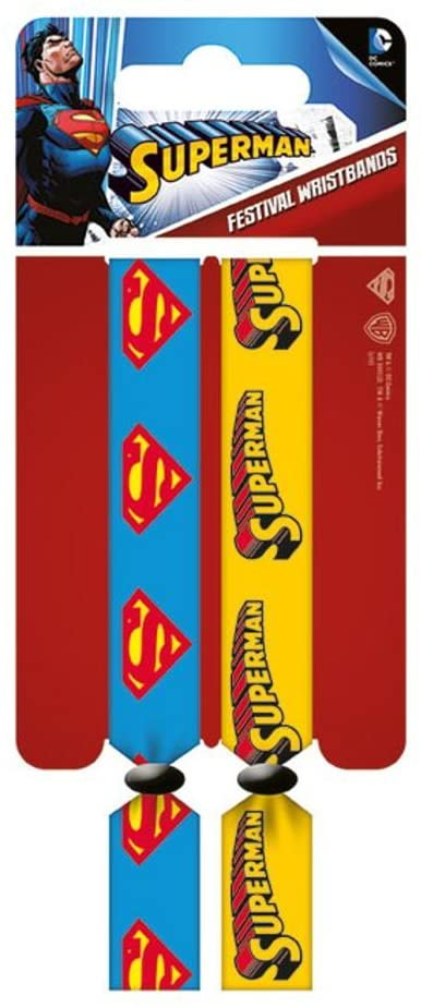 DC Comics - Pack de 2 bracelets (type festival) Superman