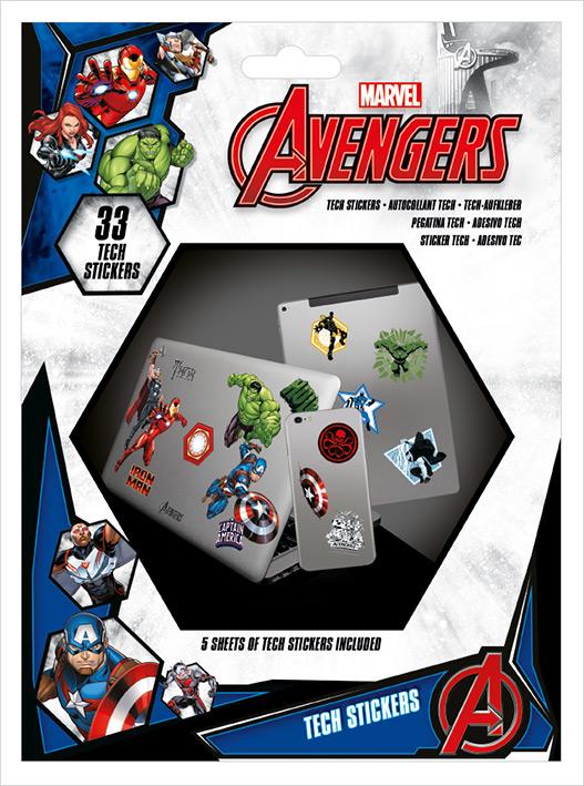 Marvel - Avengers : Pack de 33 stickers Heros