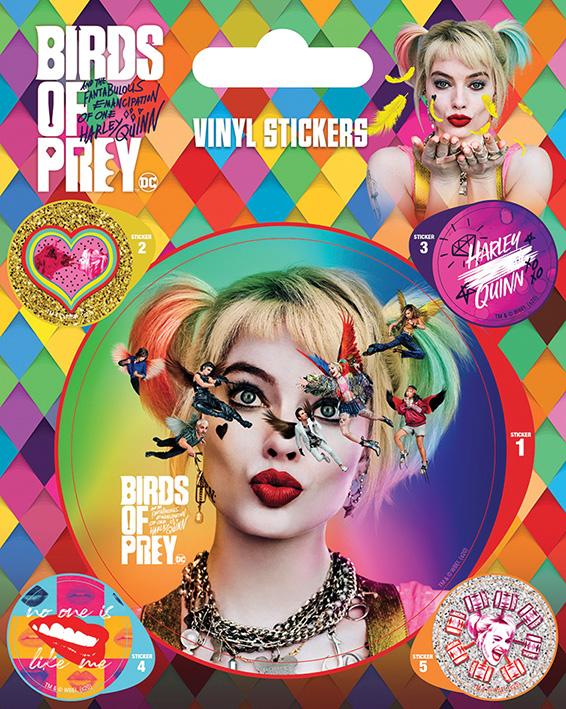DC Comics - Harley Quinn : Pack de 5 stickers Birds of Prey
