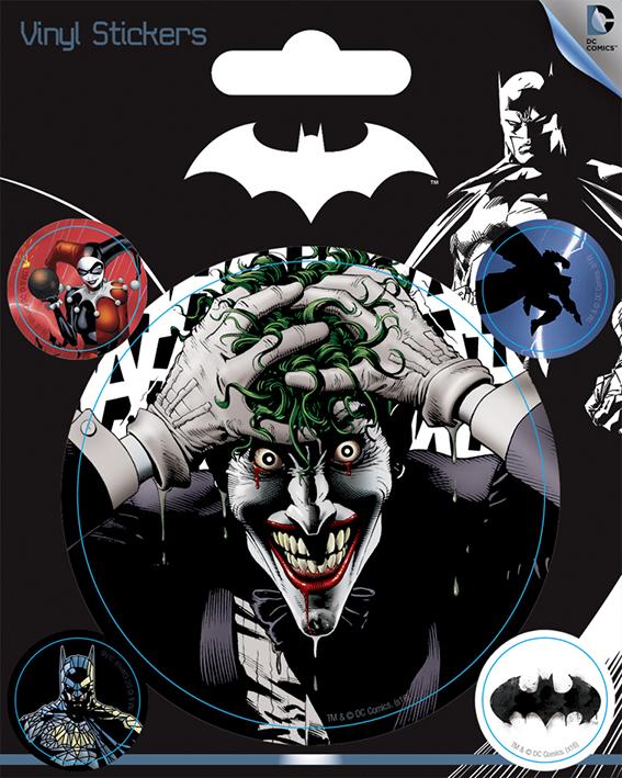 DC Comics - Batman : Pack de 5 stickers The Joker