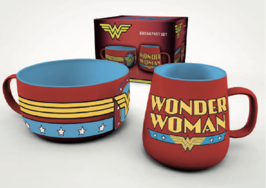 DC Comics - Wonder Woman : Set petit-déjeuner (bol + mug)