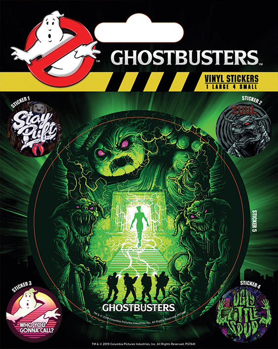 Ghostbuster - Ghost and Ghouls : Pack de 5 stickers