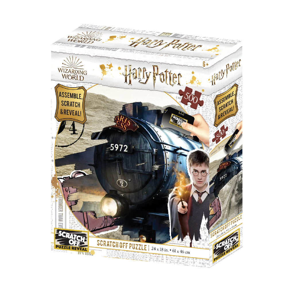 Warner Bros - Harry Potter : Puzzle Hogwarts Express de 500 pièces Scratch Ball