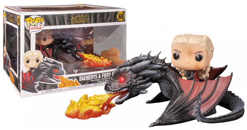 Game of Thrones - Bobble Head Funko Pop N°68 : Daenerys fiery Drago