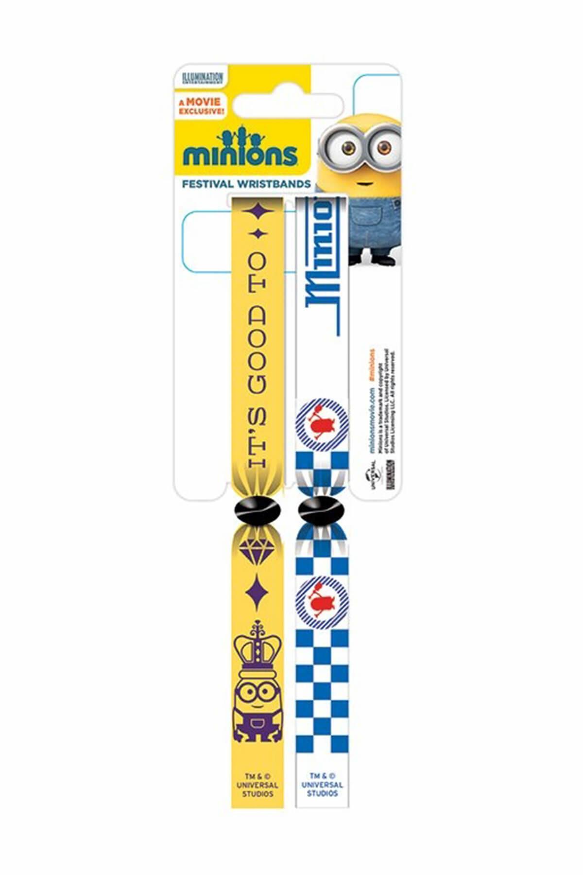 Les Minions - Lot de 2 bracelets (type festival) Minions