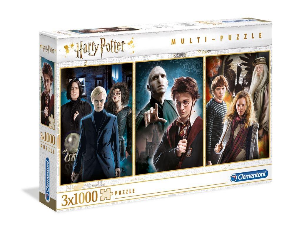 Warner Bros - Harry Potter : Pack de 3 puzzles 1000 pièces