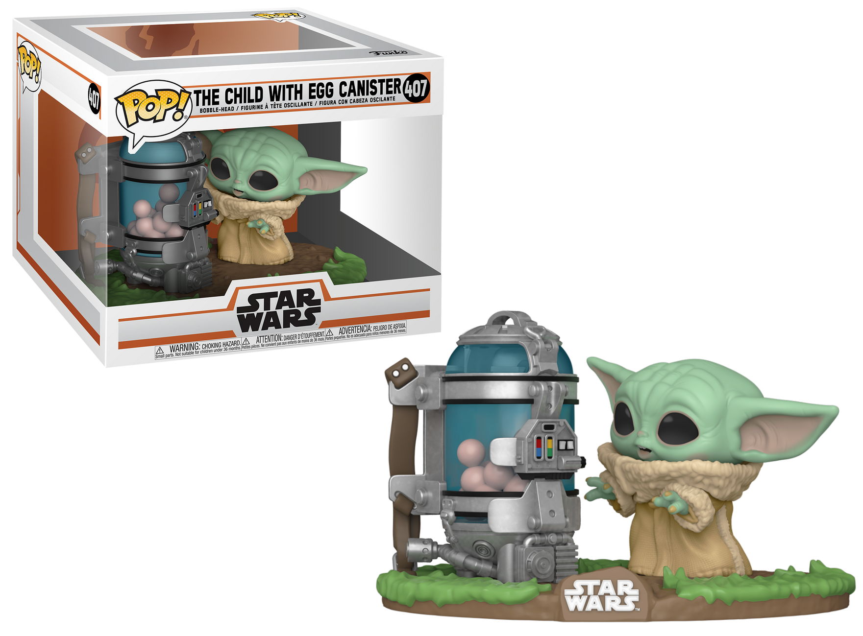 The Mandalorian - Bobble Head Funko Pop N°407 : The child with egg canister