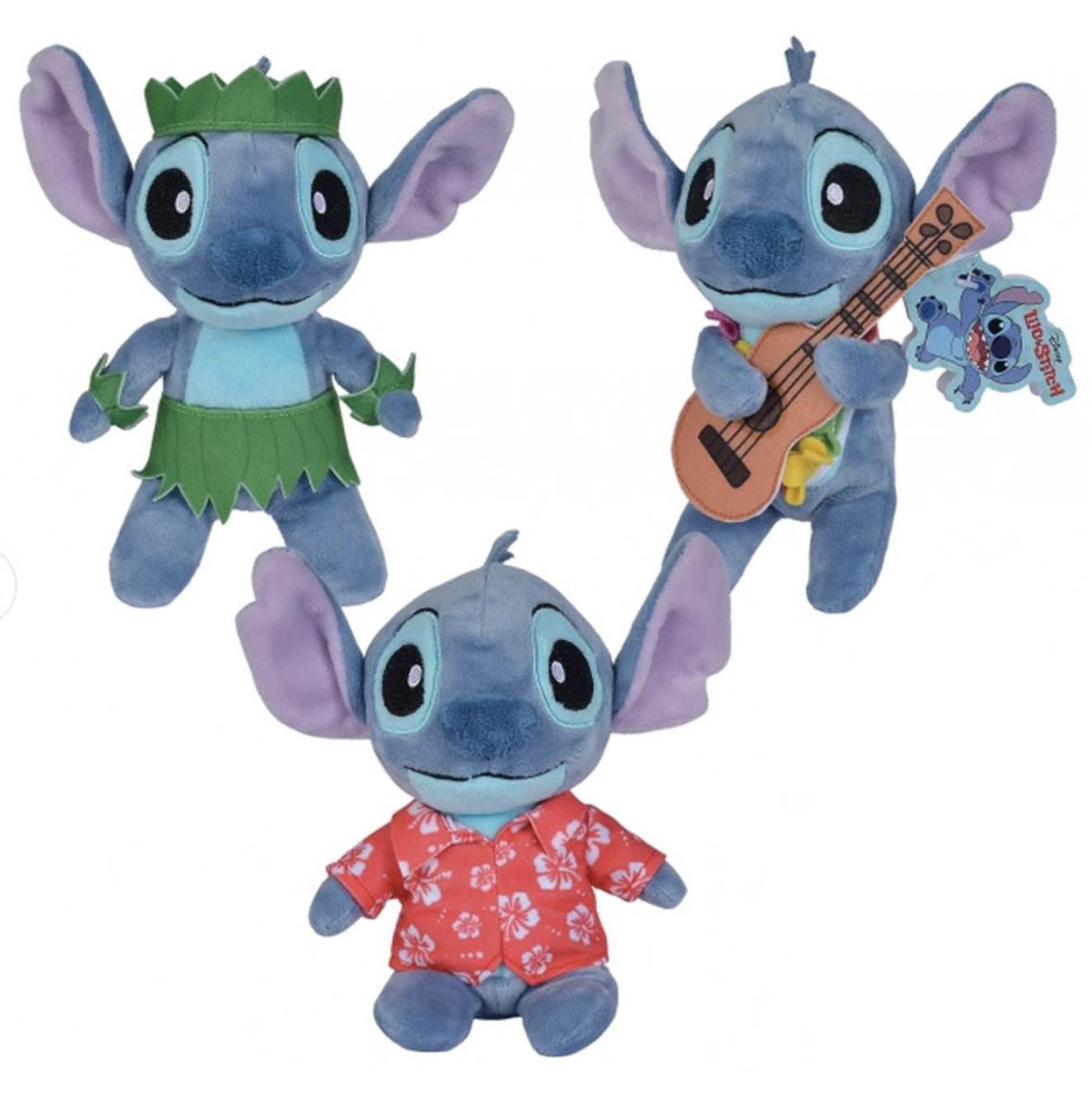 Disney - Lilo et Stitch : Lot de 3 peluches Stitch