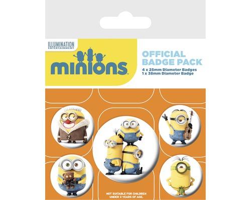 Les Minions - Lot de 5 badges (boutons) Minions