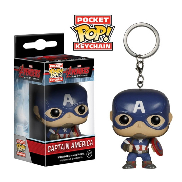 Pocket Pop Keychains : Avengers Age of Ultron - Captain America