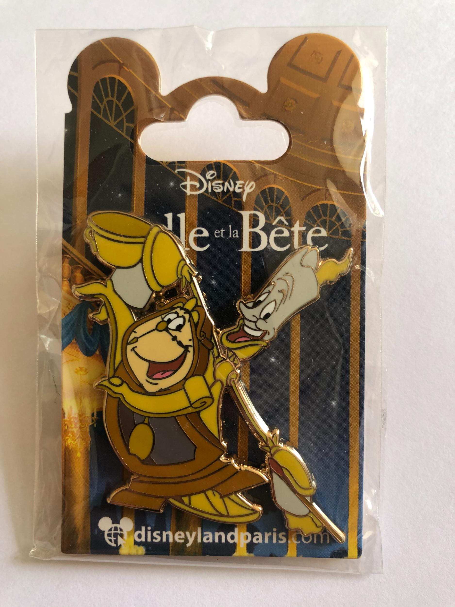 Disney - LA BELLE ET LA BETE : Pin\'s Lumière et Big Ben OE