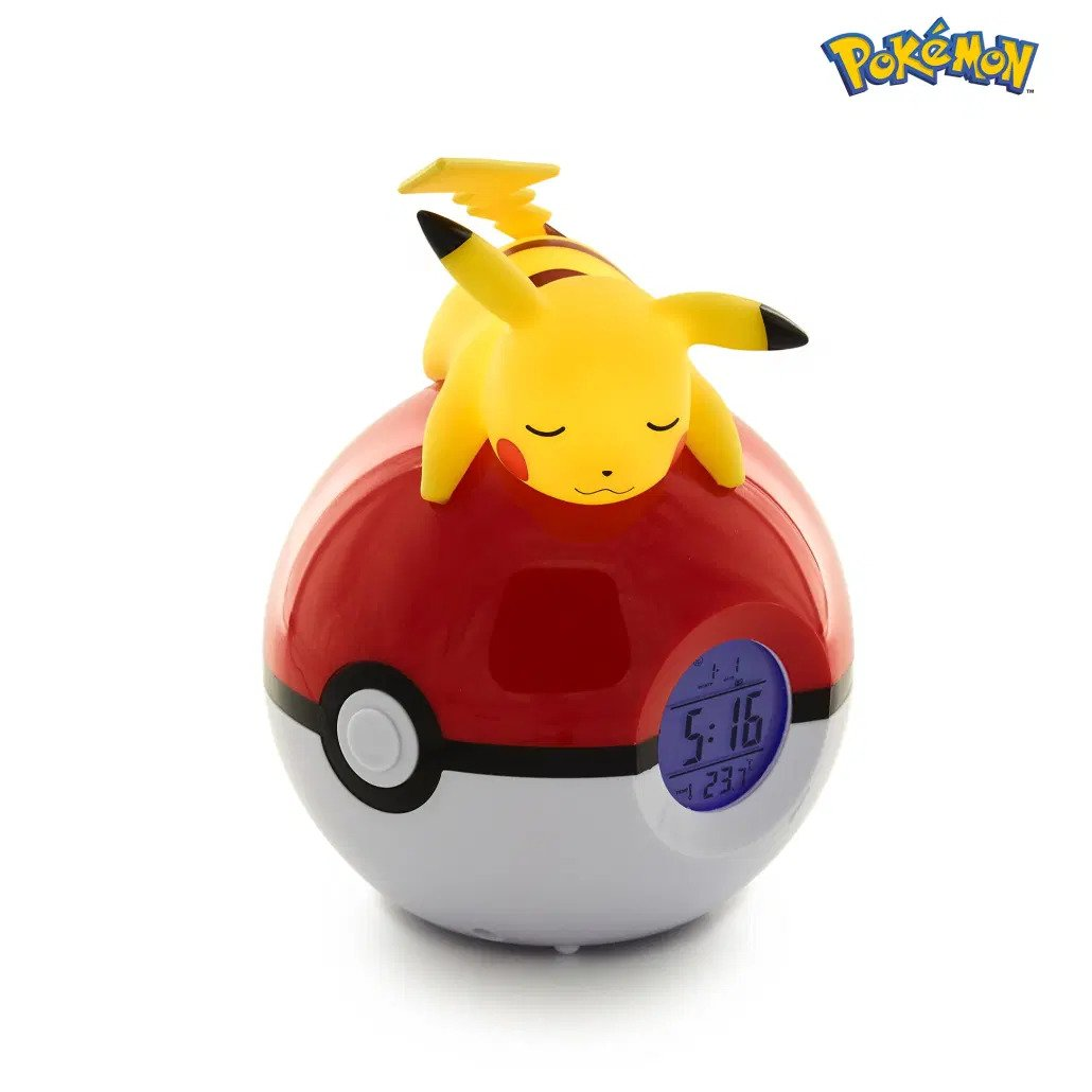 Pokémon - Réveil avec lampe : Pikachu sur pokéball