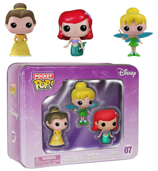 Disney - Pocket POP Tin Box : Figurines Ariel, Tinkerbell et Belle