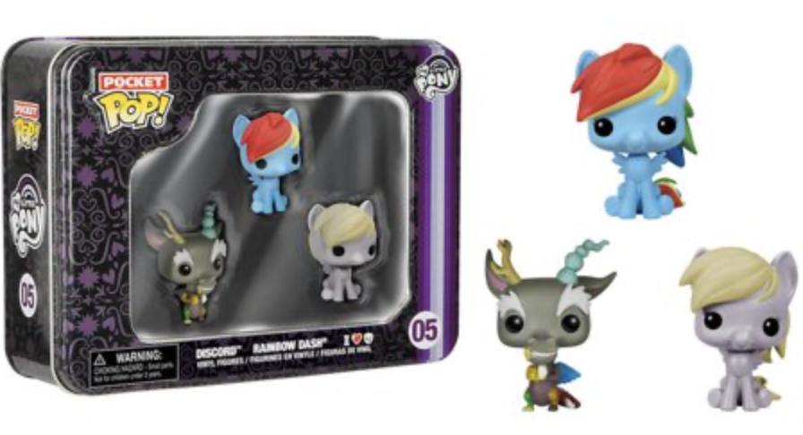 My Little Pony - Funko Pocket Pop Pack 3 Tin : Discord, Rainbow Dash and Derpy