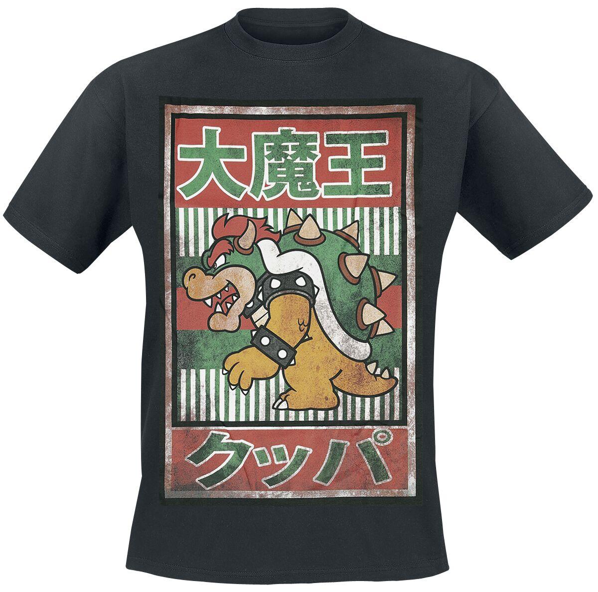NINTENDO - T-SHIRT SUPER MARIO : JAPANESE BOWSER MEN\'S TEE