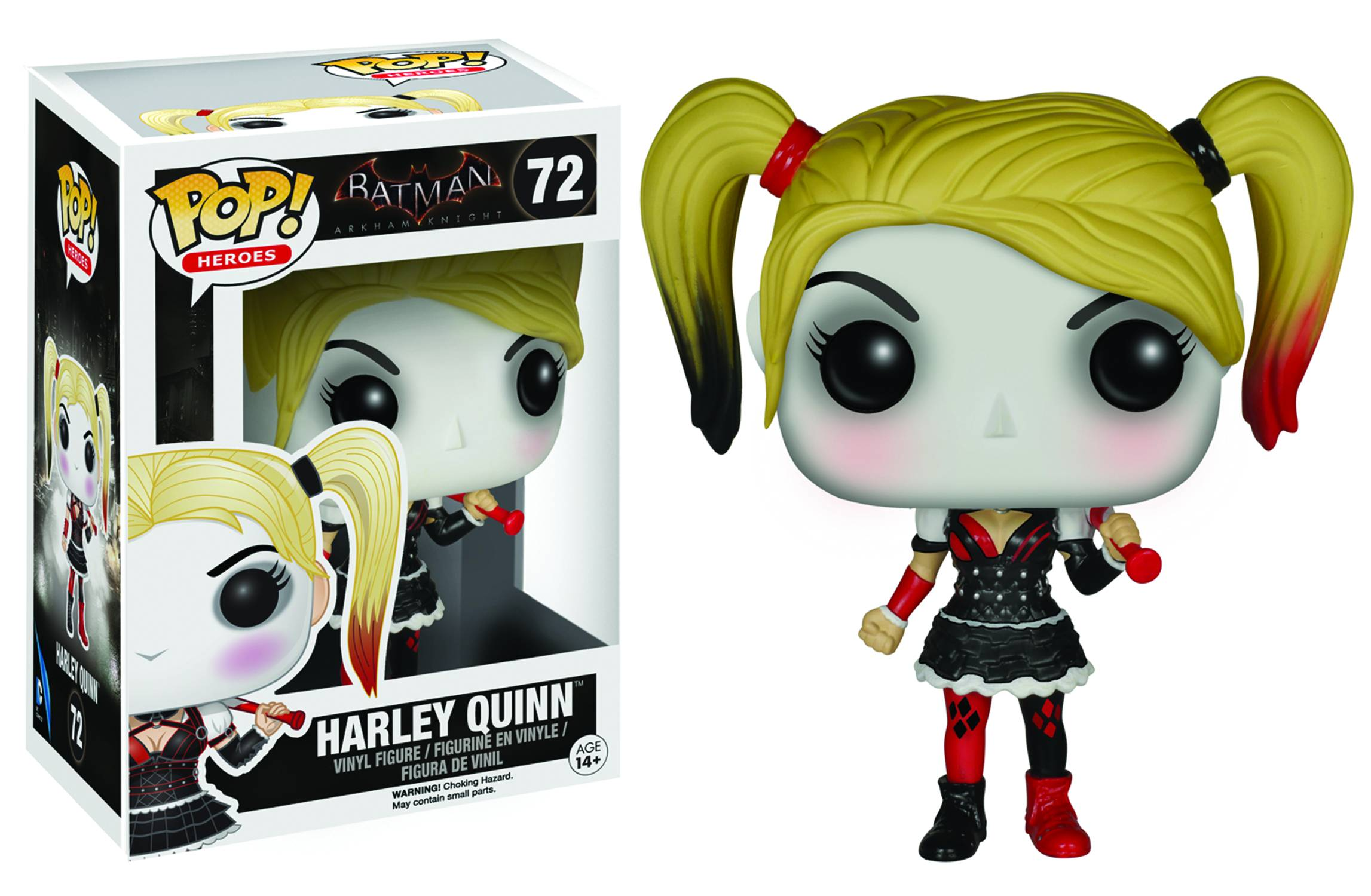 BATMAN ARKHAM KNIGHT - BOBBLE HEAD POP N° 72 - HARLEY QUINN
