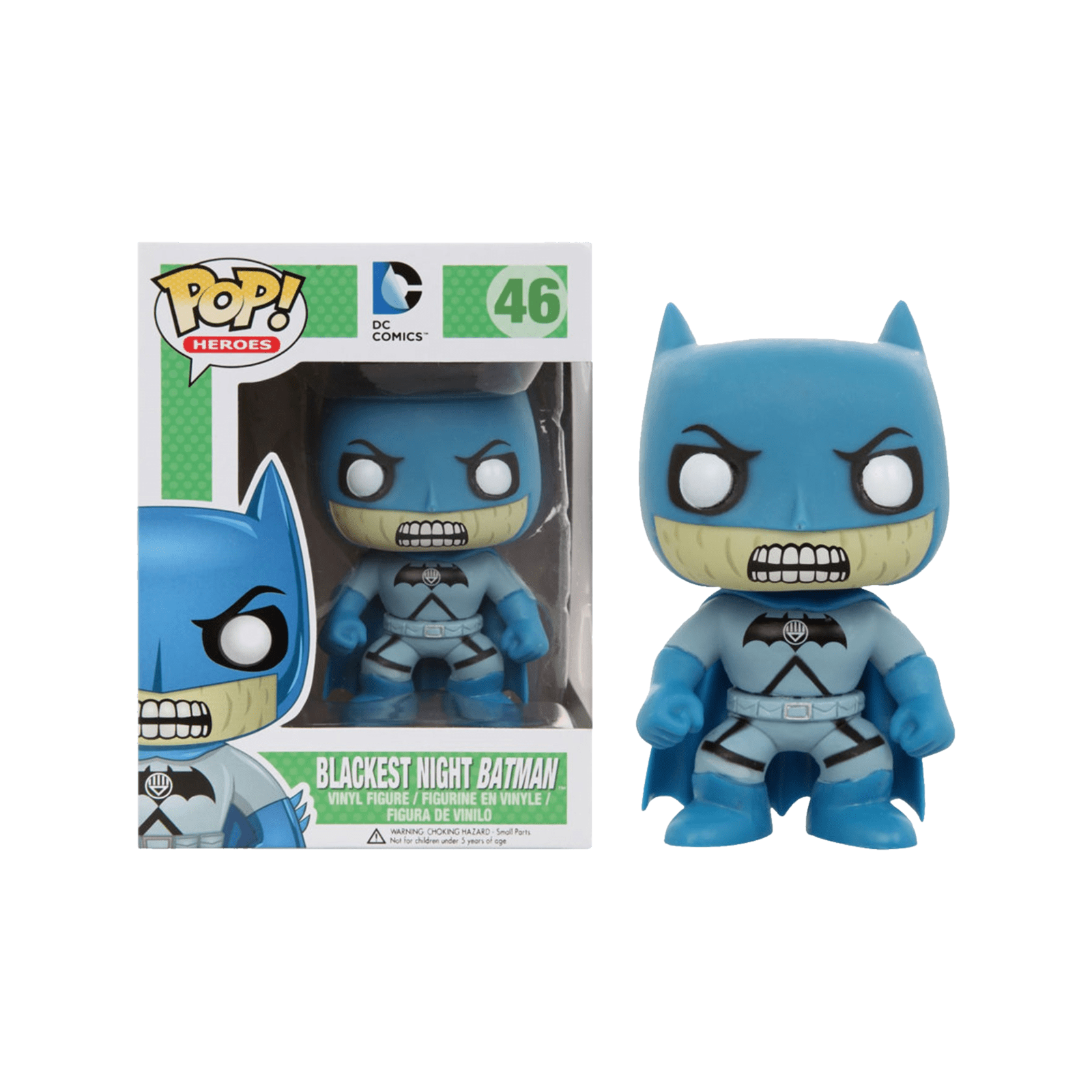 Batman - Funko Pop N° 46 : Blackest Night Batman Underground Toys Exclusive (BOÎTE ENDOMMAGÉE)