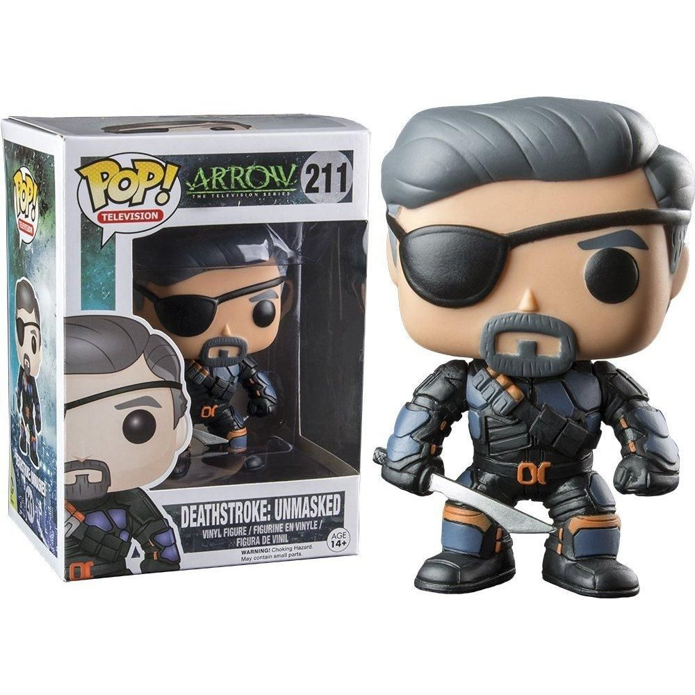 ARROW - BOBBLE HEAD POP N° 211 : DEATHSTROKE UNMASKED
