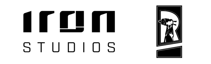 logo figurine figure iron studios
