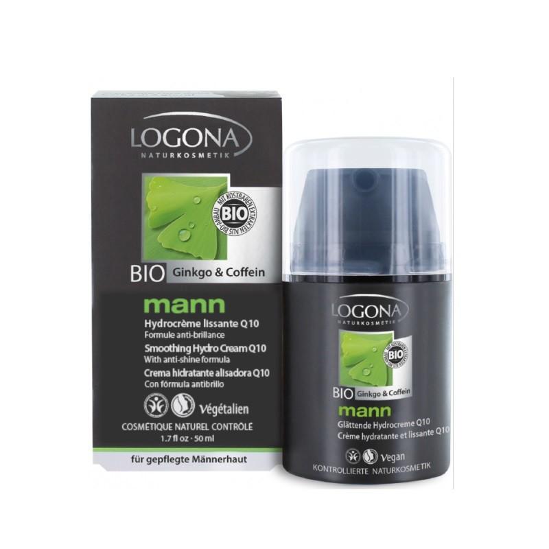 LOGONA Homme Mann crème hydratante et lissante Q10 - 50 ml