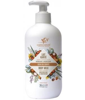 Cosmo naturel Lait corporel Karité - Hydratant Bio - 500 ml