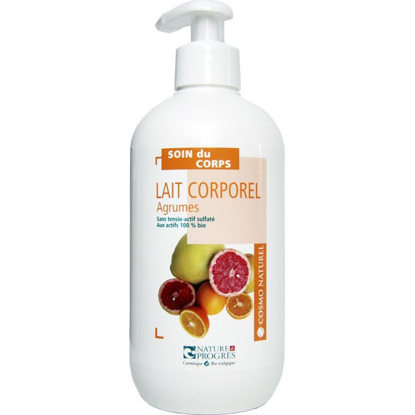 Cosmo naturel Lait corporel Agrumes Tous types de peaux Bio - 500 ml