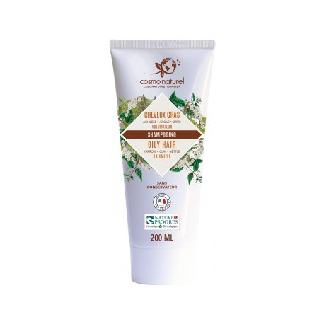 Cosmo naturel shampoing cheveux gras Argile Ortie 200 ml