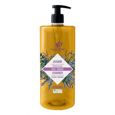 Cosmo naturel  Bain & douche Lavandin de Provence : Lavande/Romarin Bio - 1 litre