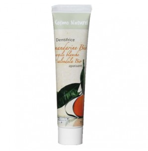 Cosmo naturel Dentifrice Apaisant : Mandarine/Argile Blanche/Calendula Bio - 75 ml