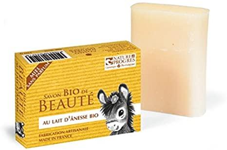 Cosmo naturel Savon au lait d\'ânesse au miel sans parfum BIO - 100 g