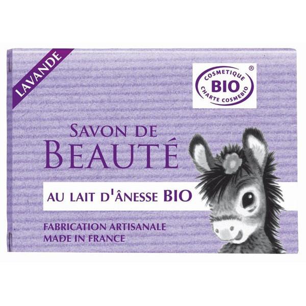 Cosmo naturel Savon au lait d\'ânesse aux HE Lavande Bio - 100 g