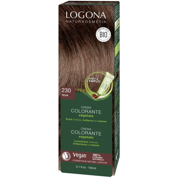 LOGONA Crème colorante végétale teck - 150 ml