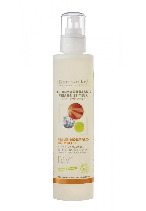 DERMACLAY  Eau démaquillante Px Normales & Mixtes BIO - 200 ml