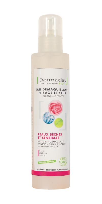 DERMACLAY  Eau démaquillante Px sèches & sensibles BIO - 200 ml