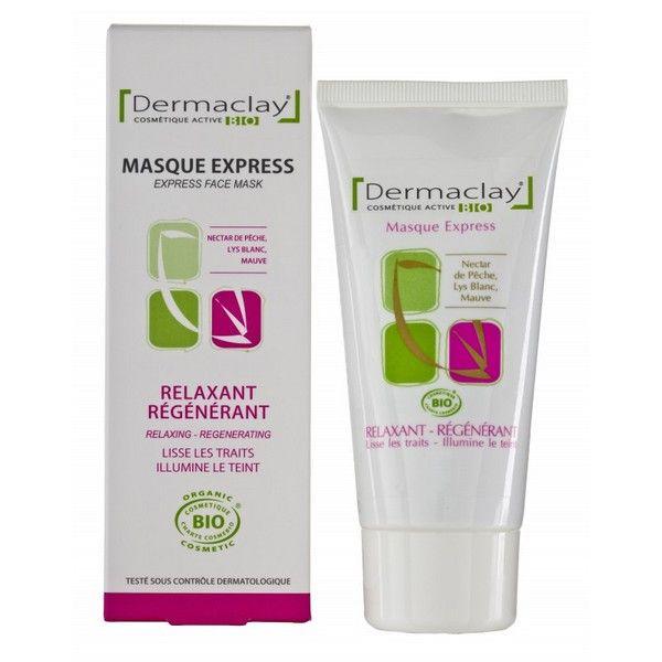 DERMACLAY Masque express relaxant, régénérant - tube 75 ml