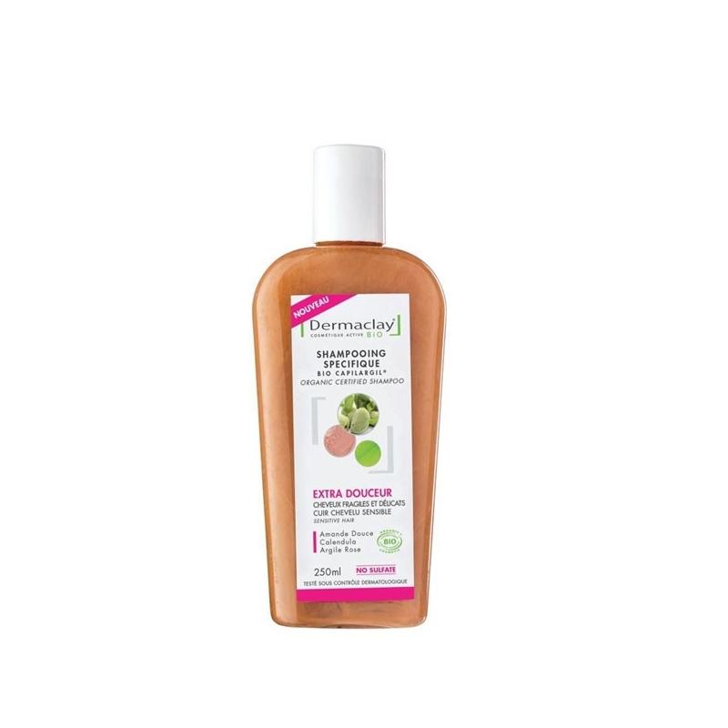 dermaclay shampoing capilargil traitant extra-douceur 250 ml