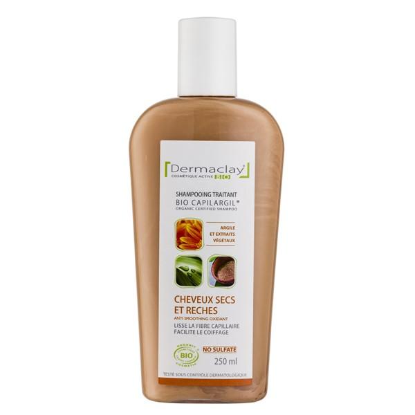 DERMACLAY Bio Capilargil: Traitant Cheveux secs et rèches, anti-oxydant Bio  - 250 ml