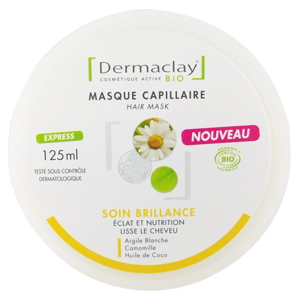 Dermaclay masque Capillaire Soin brillance Bio pot 125 ml